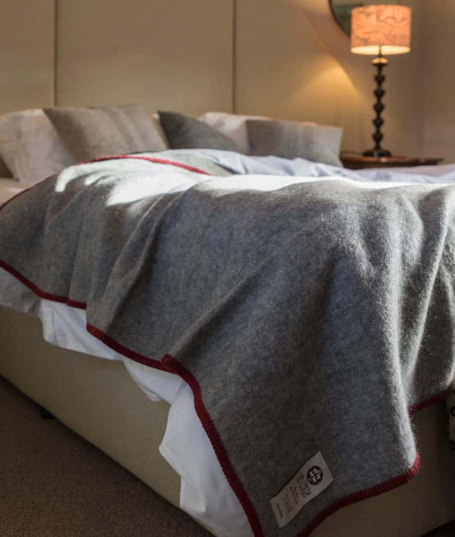 washable gotland pure wool large cosy throw blanket