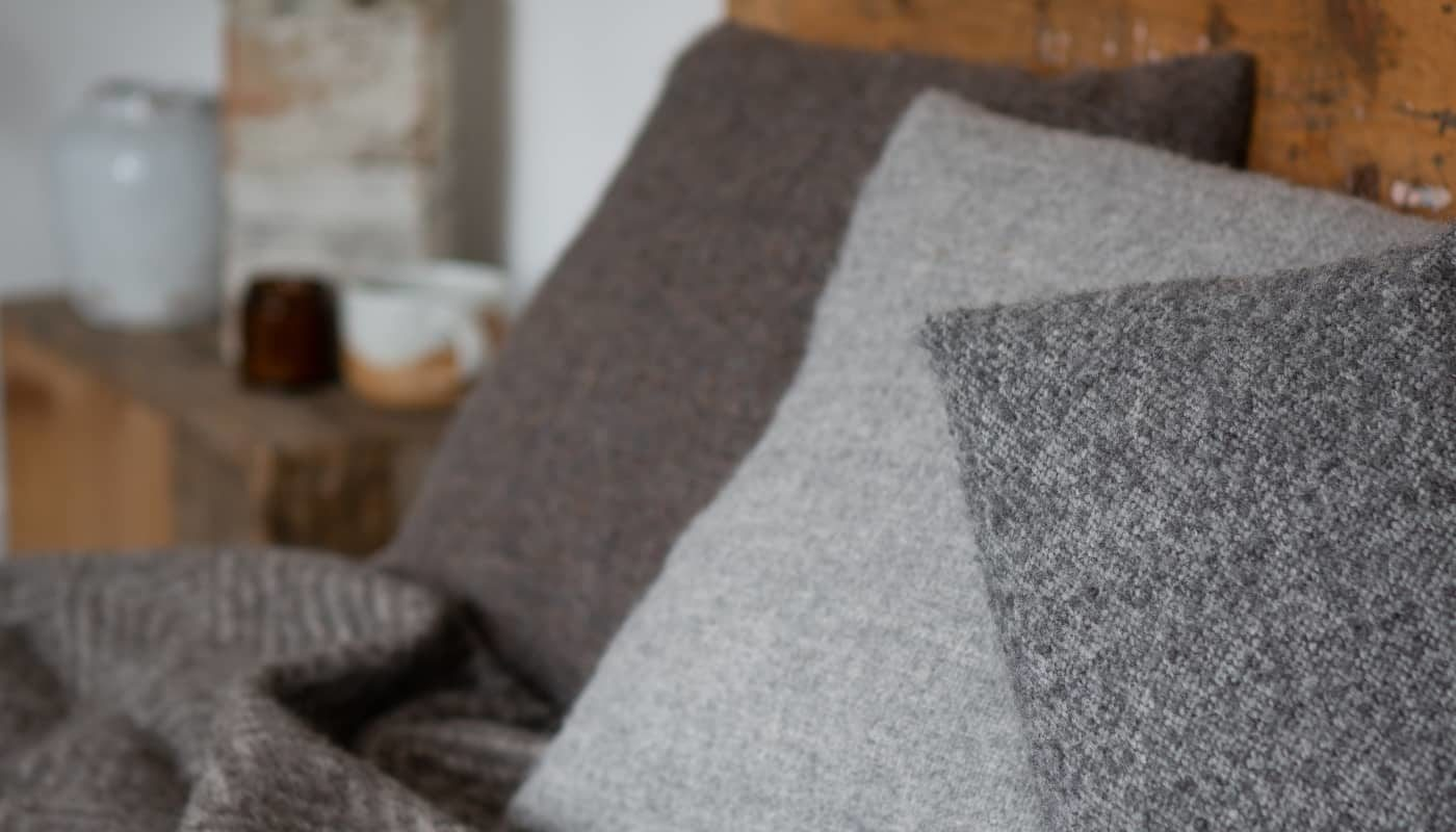 alpaca wool cosy limited edition cushions