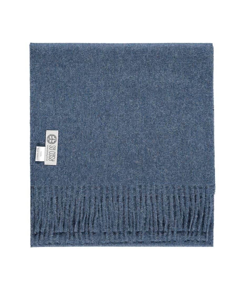 so cosy denim colour scarf
