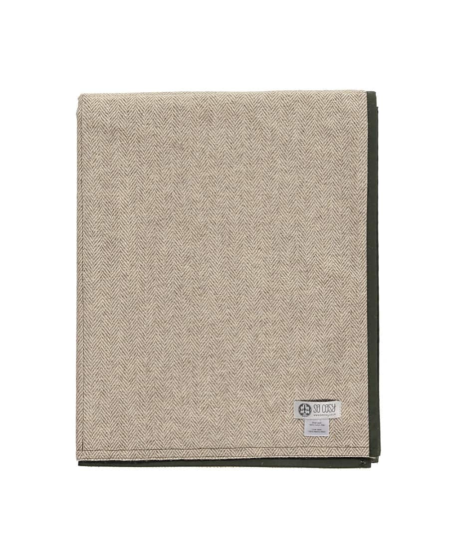 quality-picnic-blanket-eco-wool-wax-cotton-olive-green