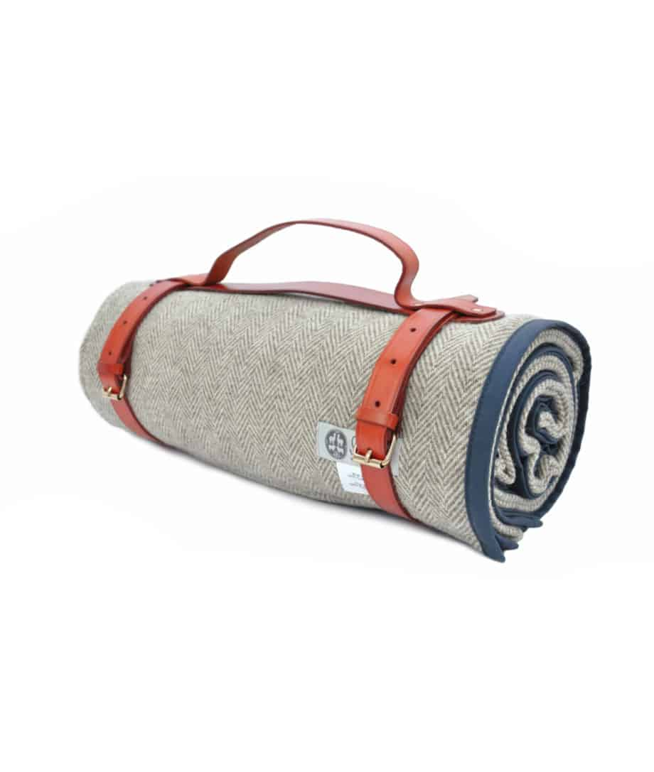 the best quality roll up picnic blanket in navy nigh colour
