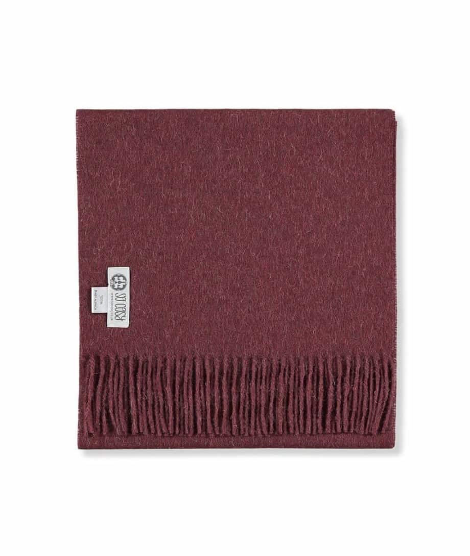so cosy unisex tawny port colour scarf