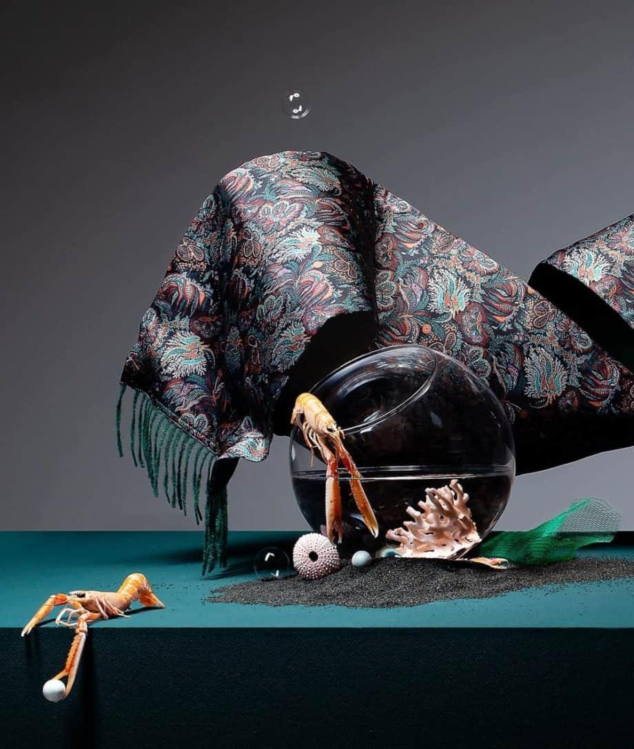 luxury liberty fabric print silk combination with alpaca wool