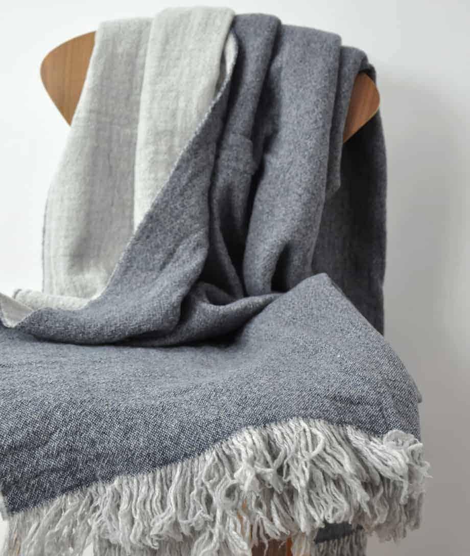 super soft and cosy merino wool blanket