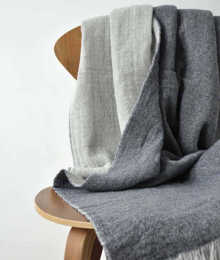 warm and soft merino wool throw throw from so cosy company