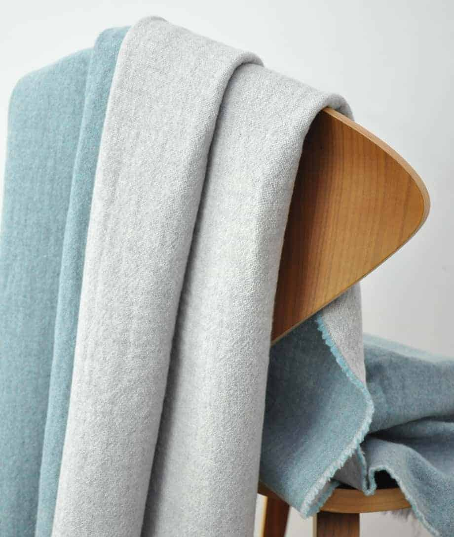 aqua blue super soft merino wool throw