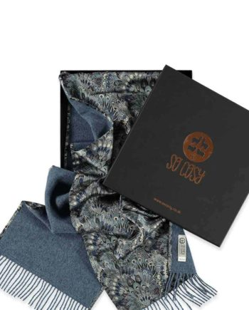 luxury liberty fabric eben silk scarf in gift box by so cosy