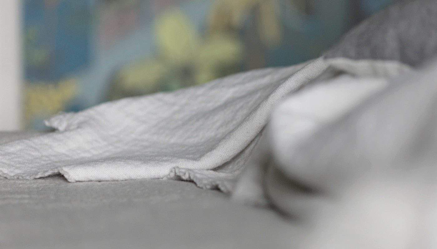 best quality luxury extra large merino wool bedspread blanket in grey white colour