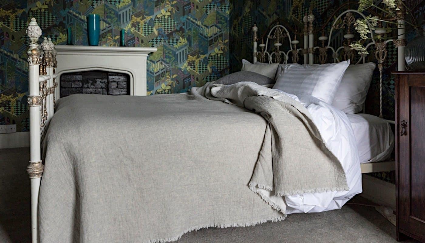reversible large bedspread cosy luxury soft merino wool