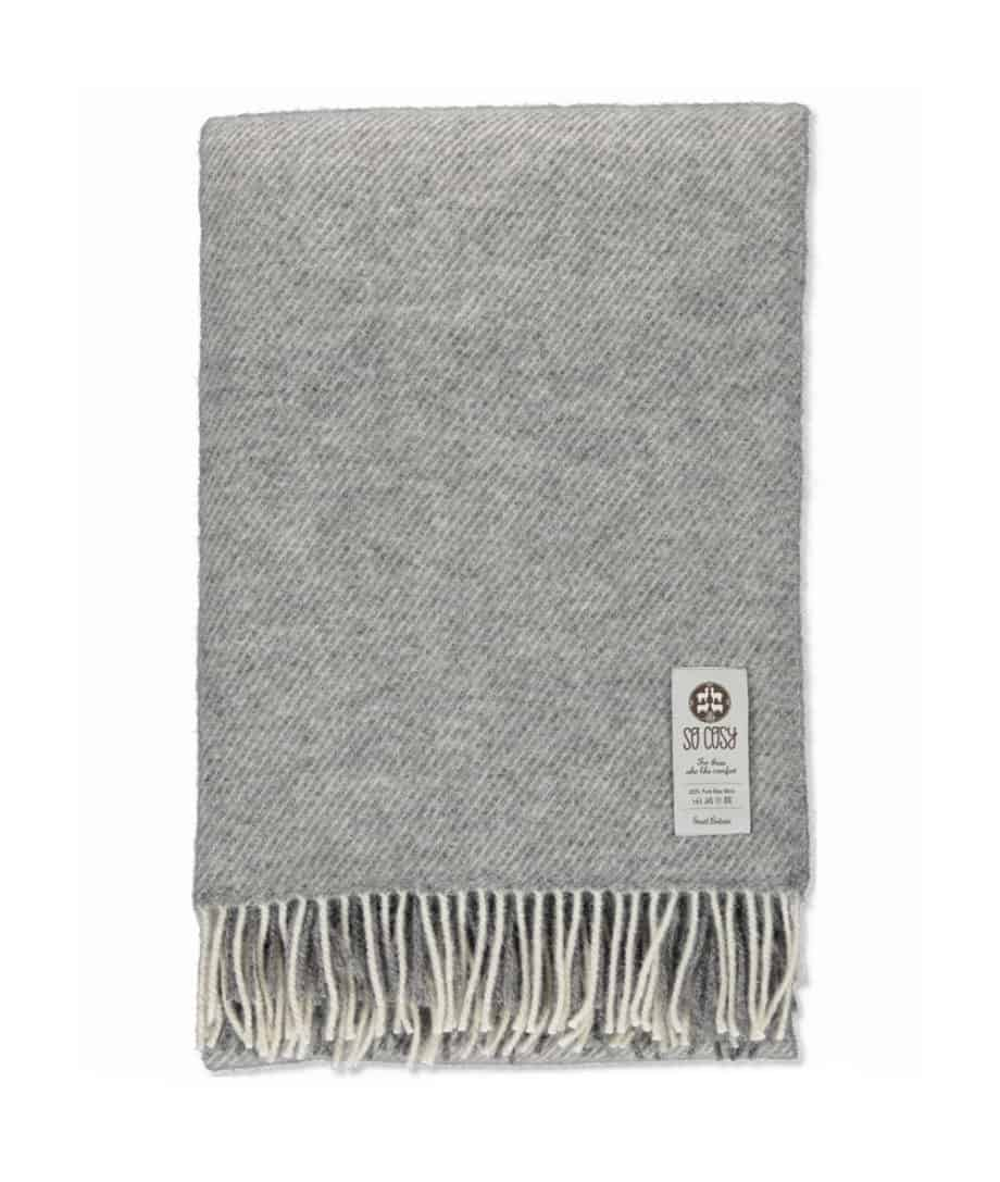 undyed gotland sheep grey wool large bed blanket throw
