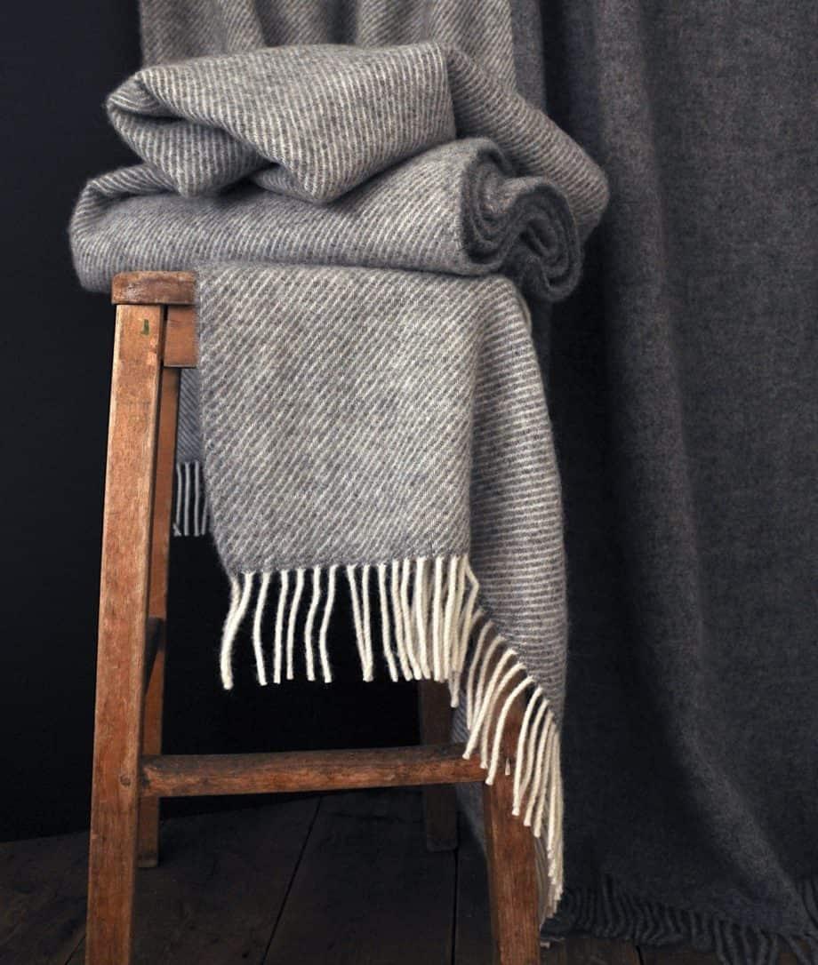 grey gotland wool large throw lifestyle