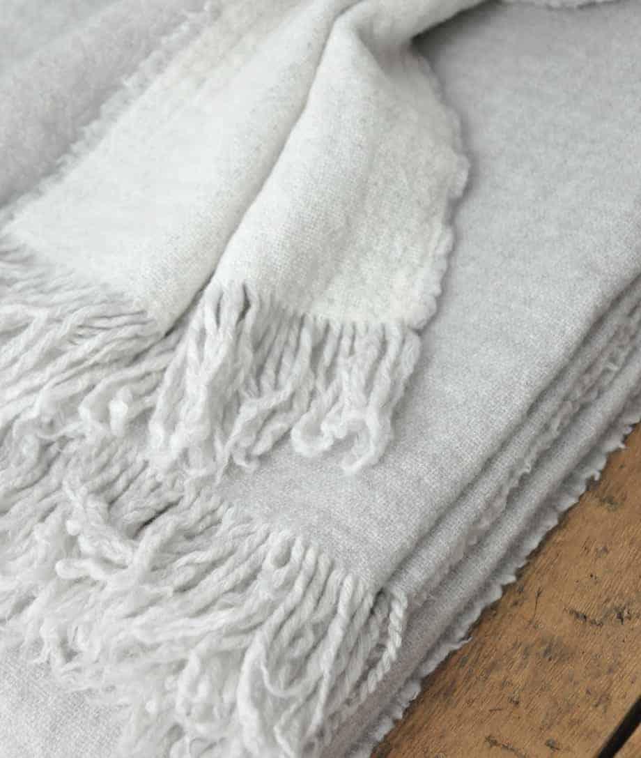 double face soft merino wool blanket