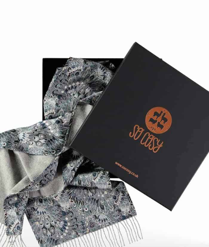 luxury scarf liberty london eben print in gift box