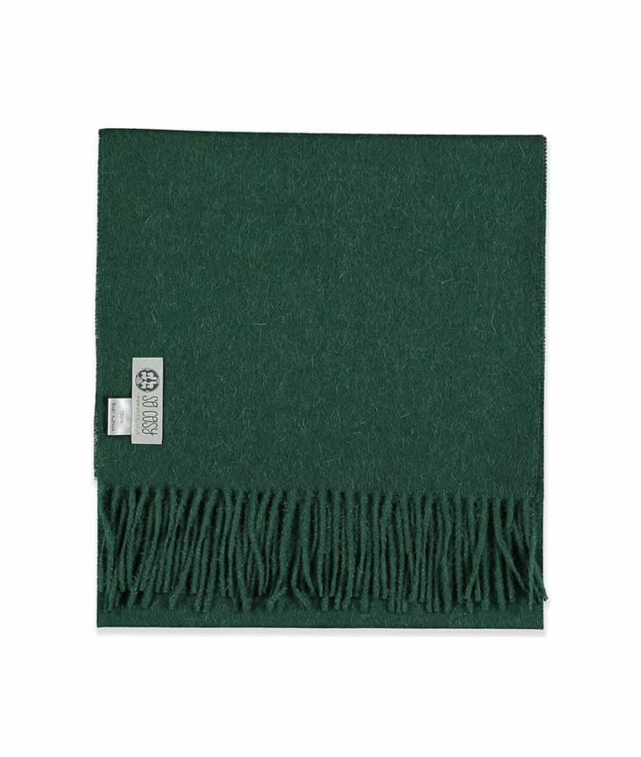 british racing green colour scarf made from soft baby alpaca wool