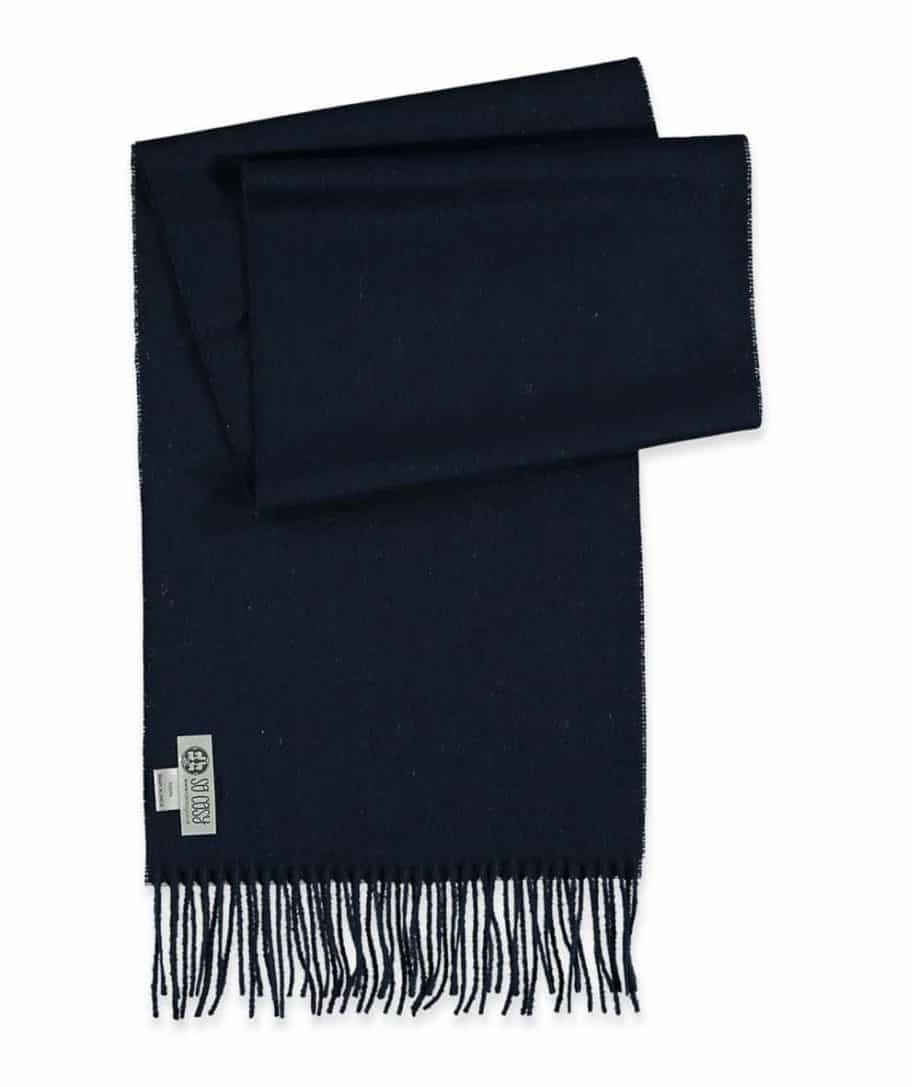 toni scarf in dark navy colour made from baby alpaca wool