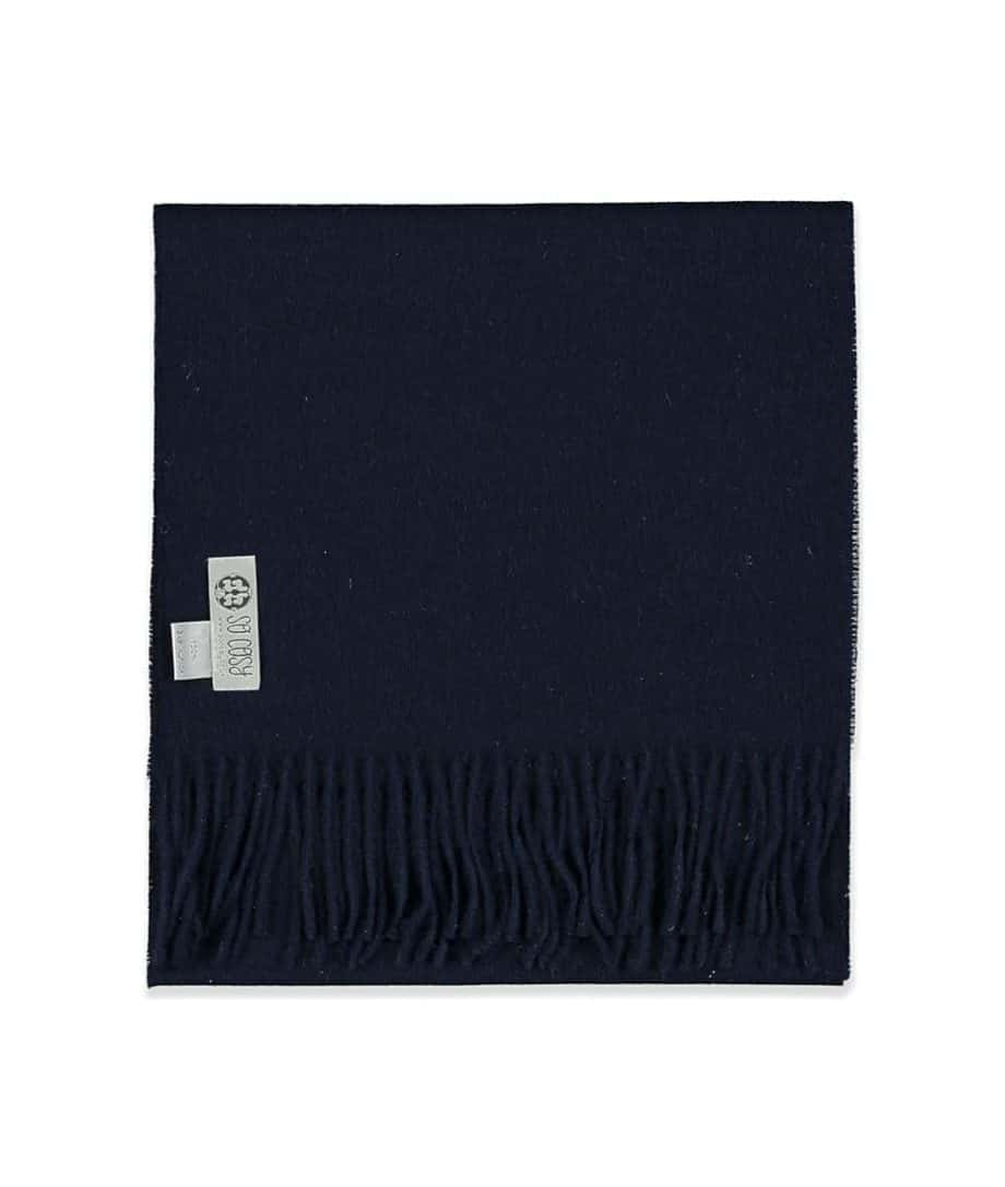 so cosy soft baby alpaca wool scarf in dark navy colour
