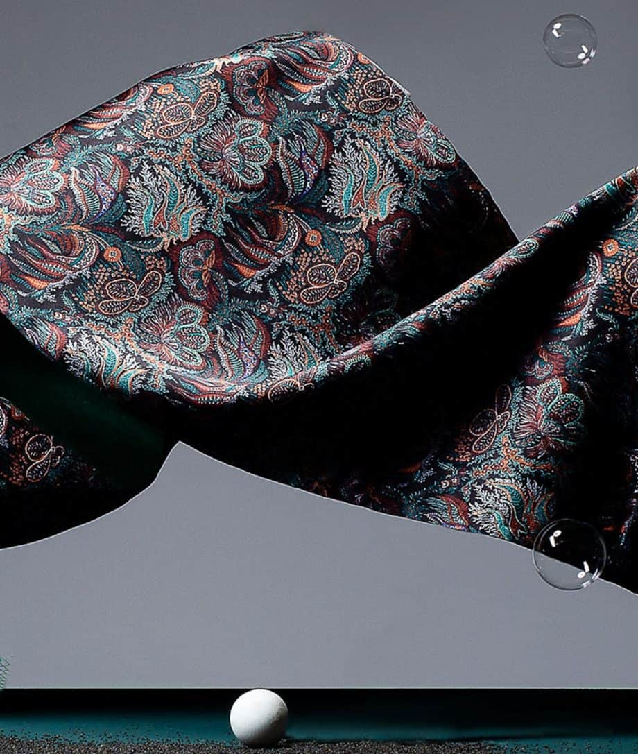 scarf liberty london fabric paisley corals print