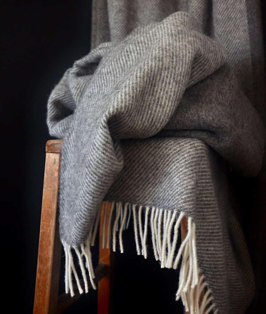 so cosy large throw grey wool