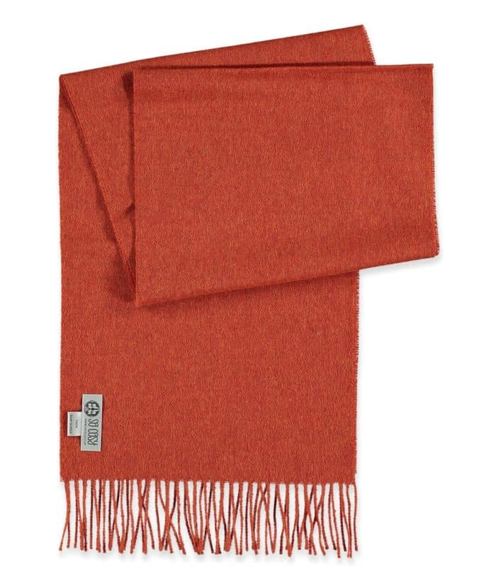 deep orange colour baby alpaca wool scarves