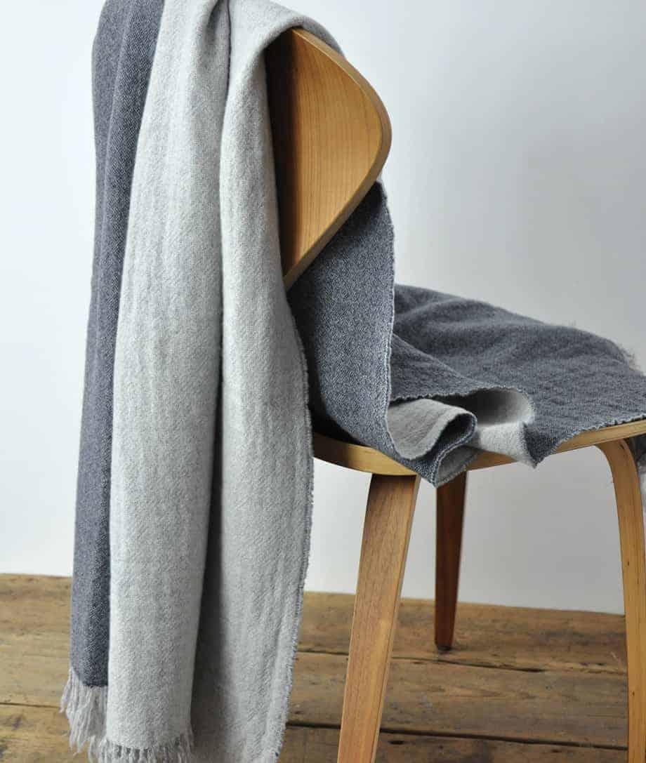 warm and soft merino wool throw blanket