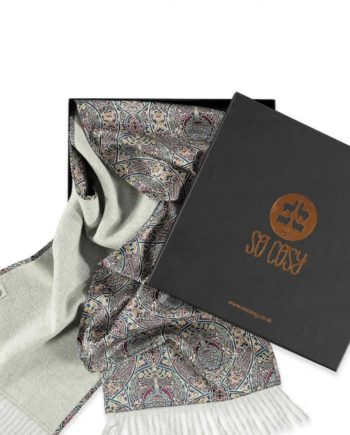 luxury cosy scarves made with silk and alpaca wool