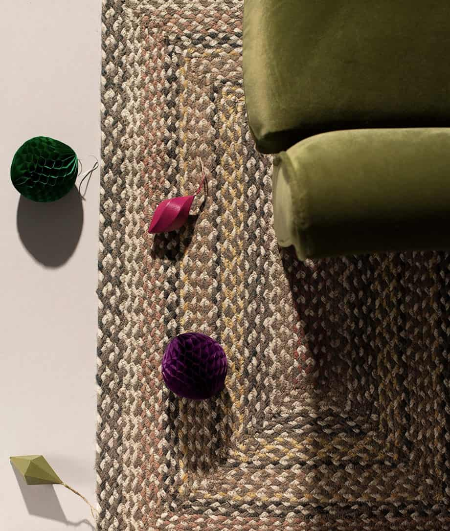 granite organic jute rug