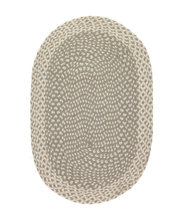 Soft Grey oval rug