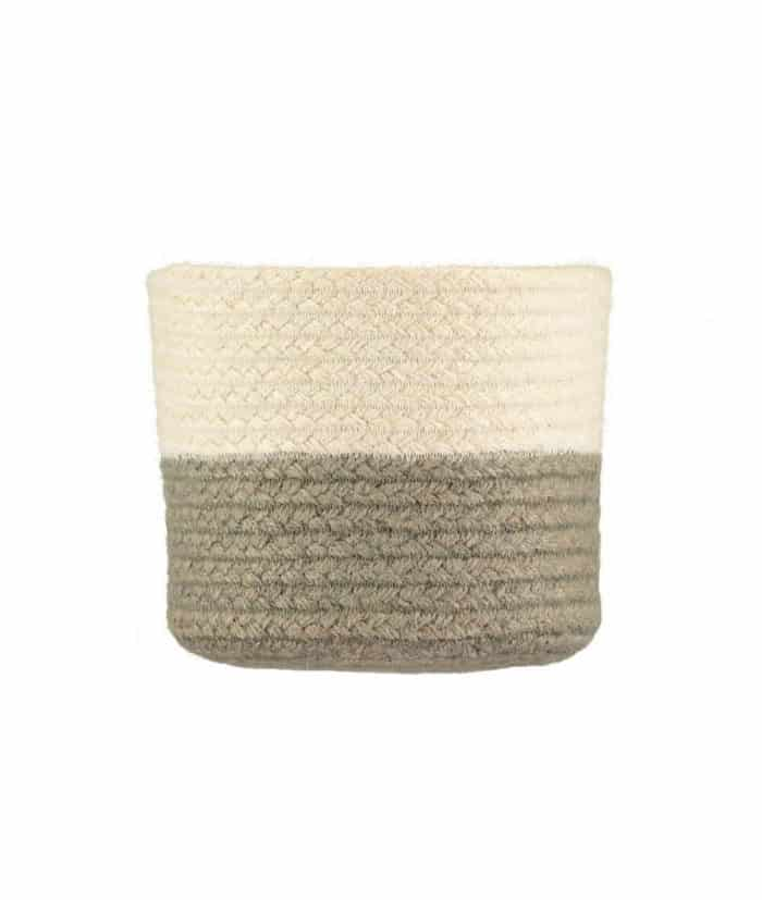 Two Tone Soft Grey Basket