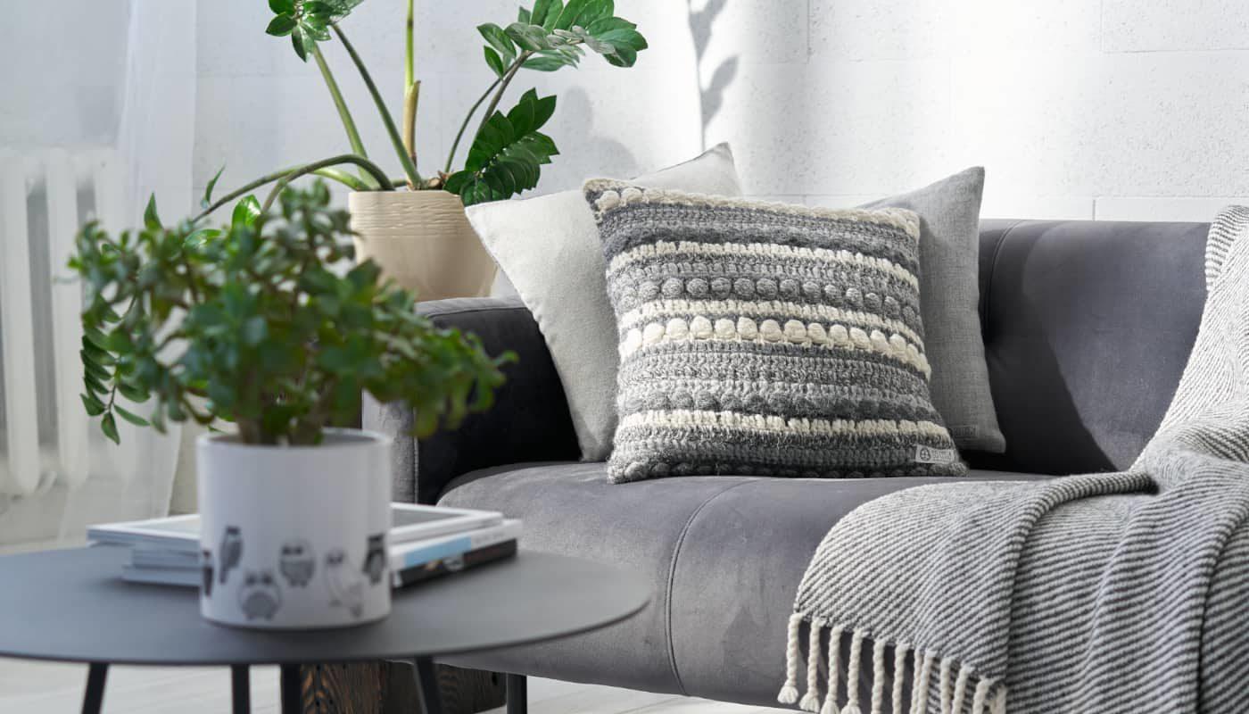 handmade cosy baby alpaca wool cushion