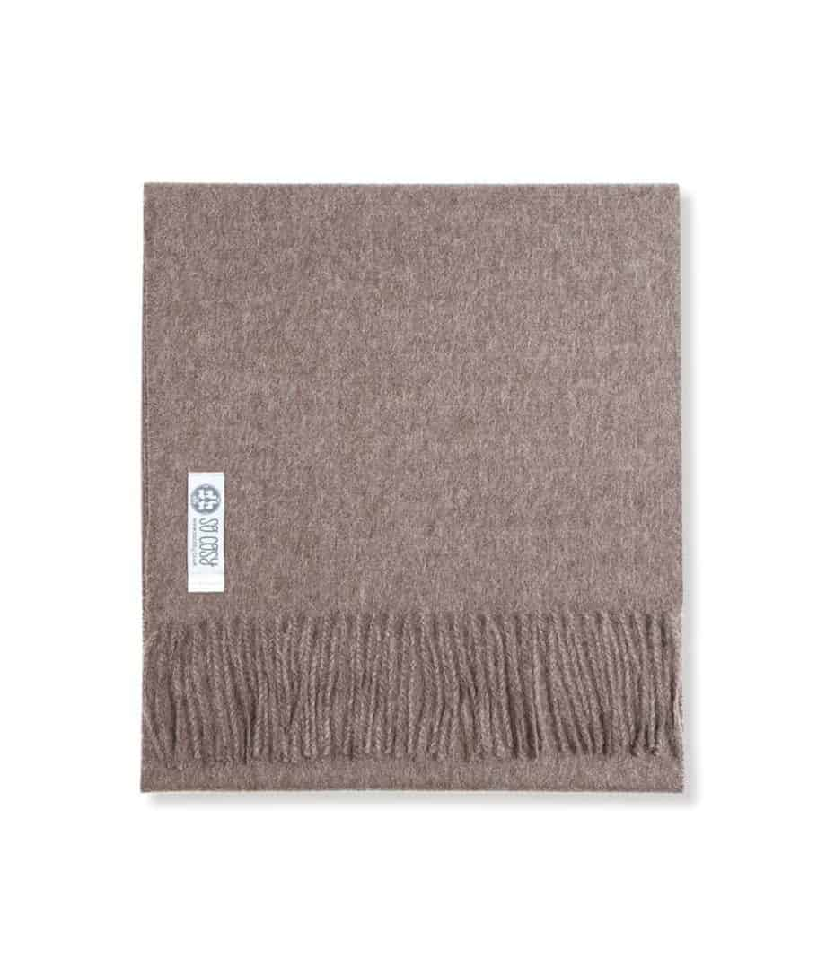 so cosy toni baby alpaca wool neutral taupe colour scarf