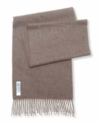 toni neutral taupe alpaca wool cosy scarf open