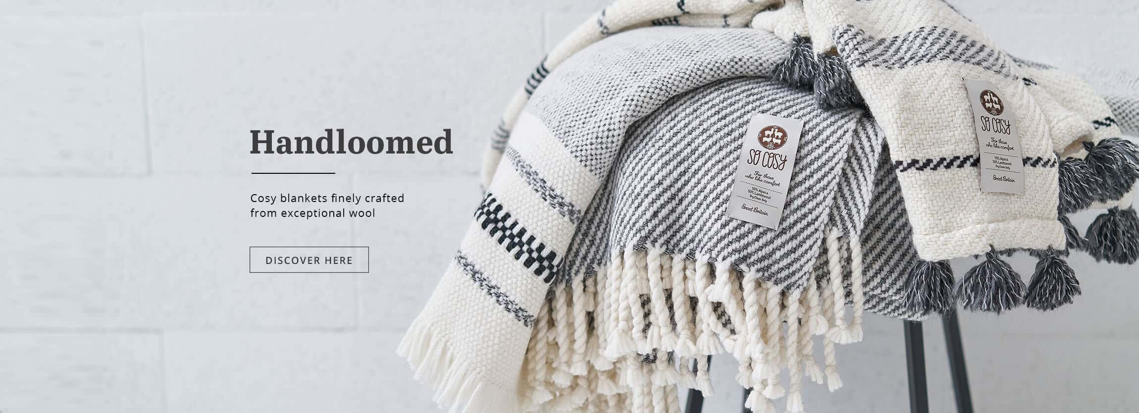 handloomed luxury blankets