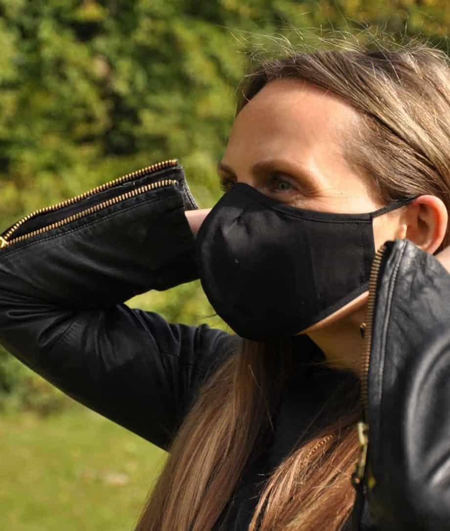black face covering mask
