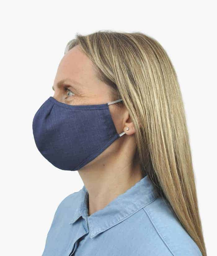 face covering mask navy