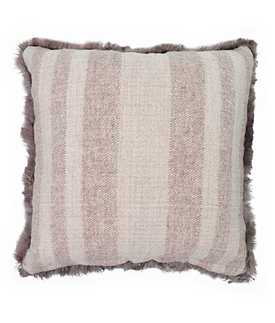 luxury suri alpaca brown large cushion