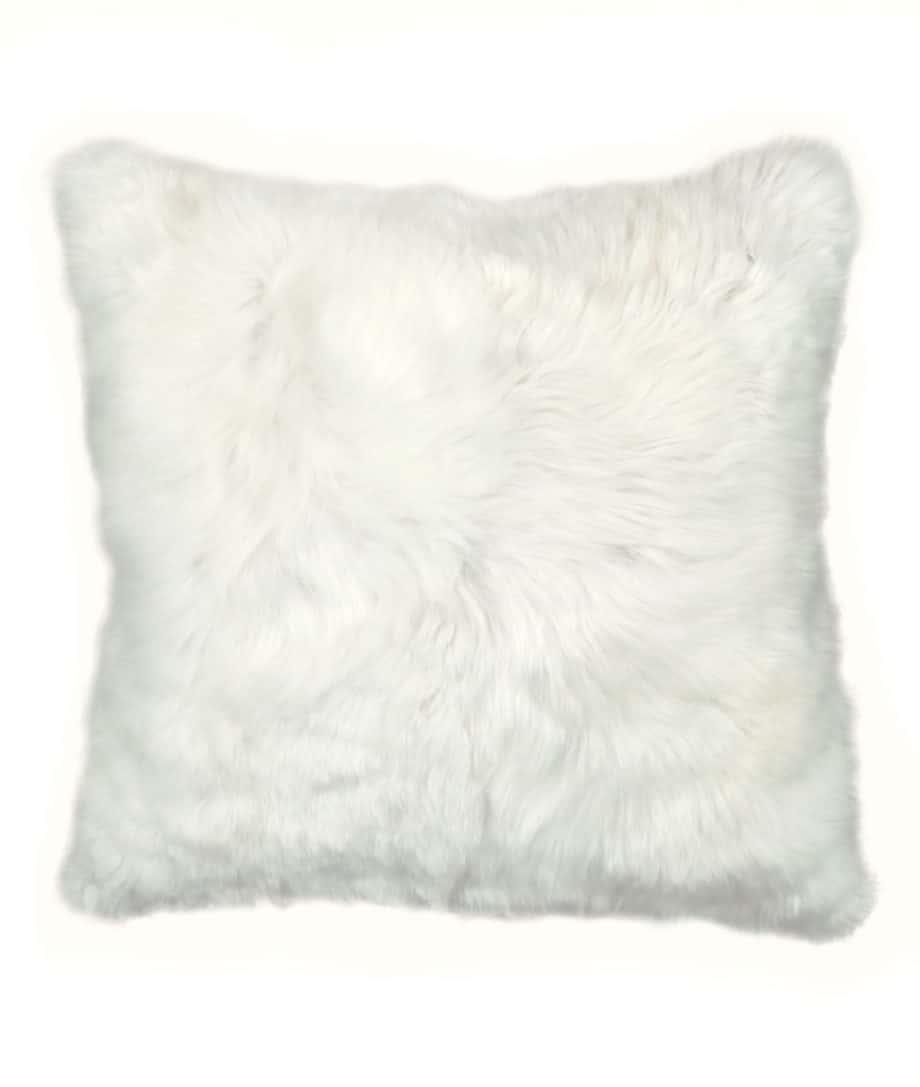 luxury suri alpaca fur white cream cushion