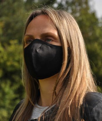 reusable black face covering mask