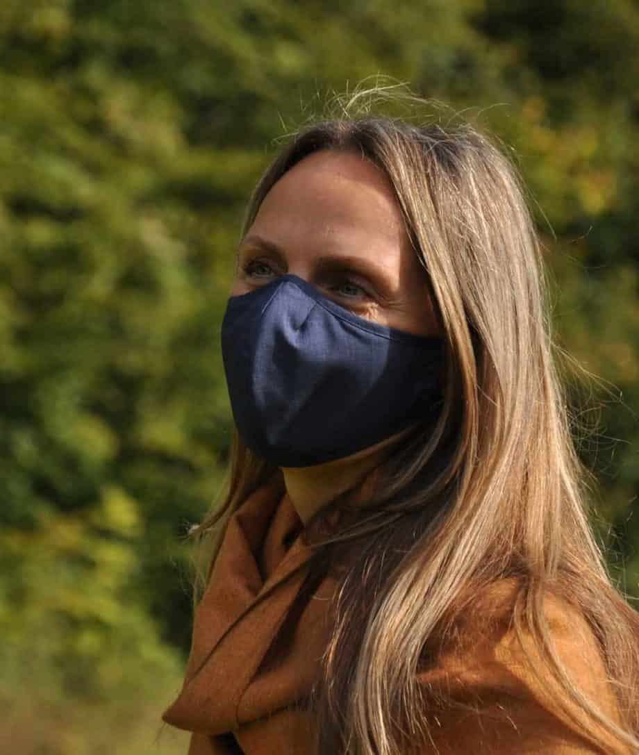reusable face mask navy colour