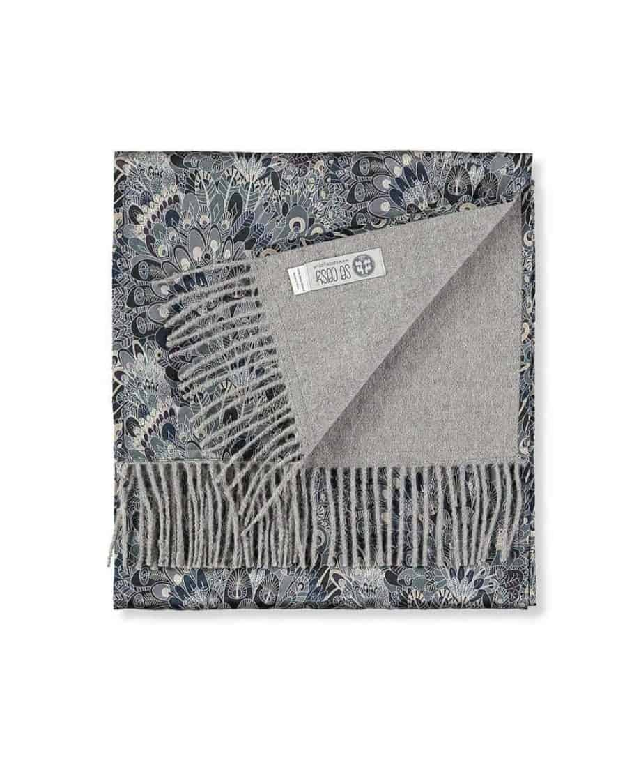 so cosy limited edition liberty fabric grey scarf