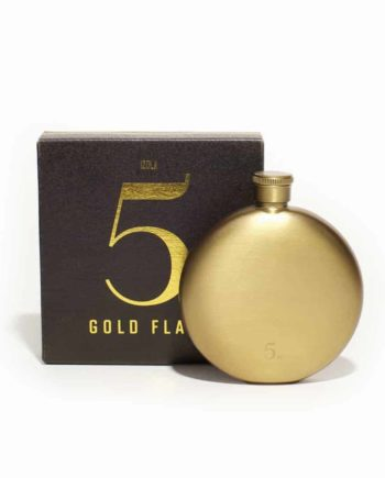 stainless steel gold flask 5oz