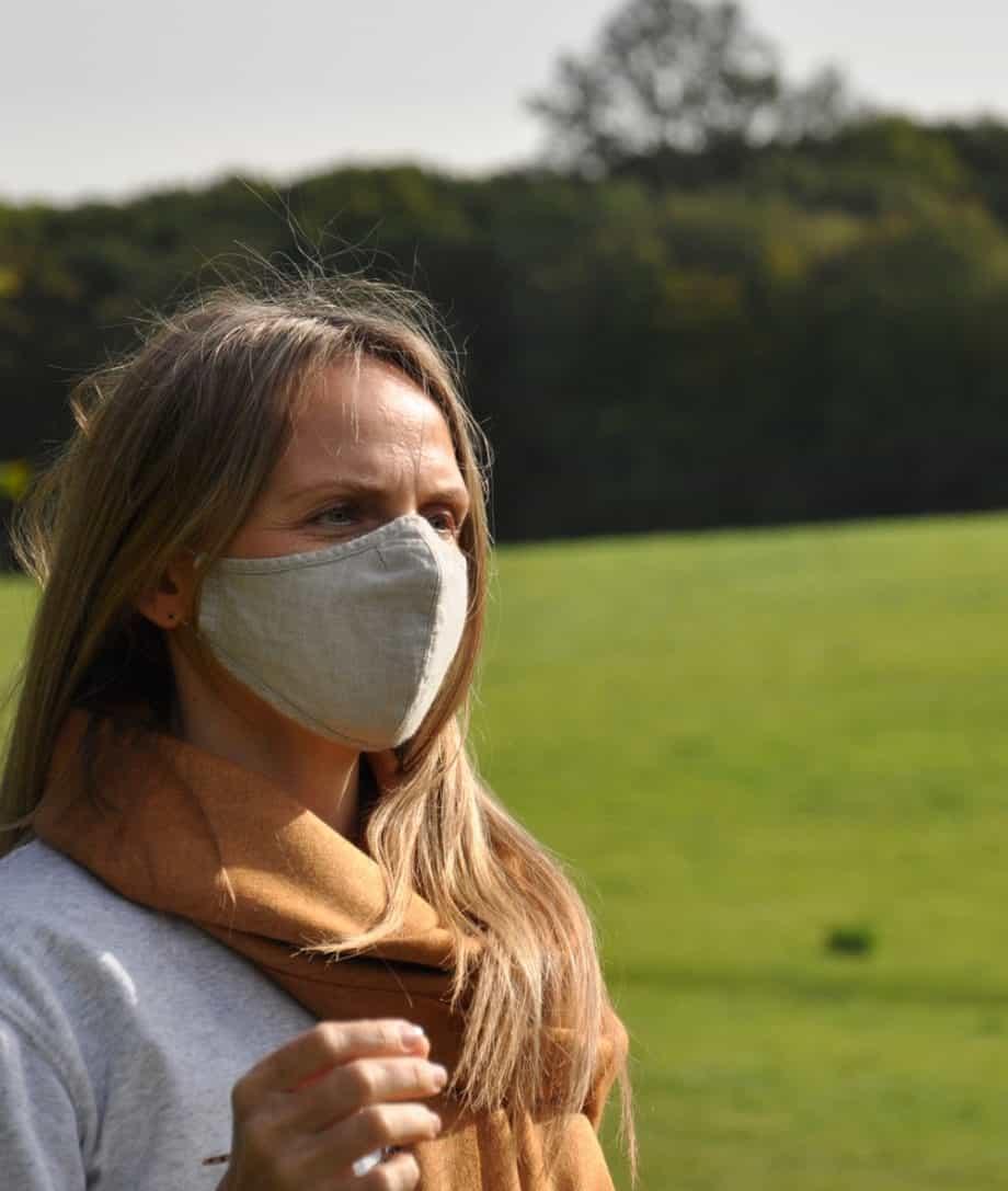 linen reusable face mask