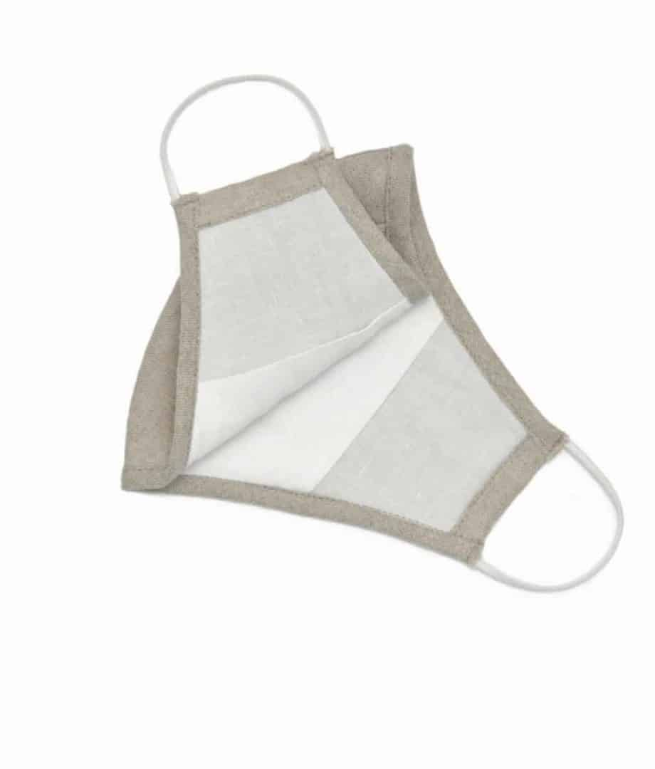 natural linen face covering mask from so cosy online shop