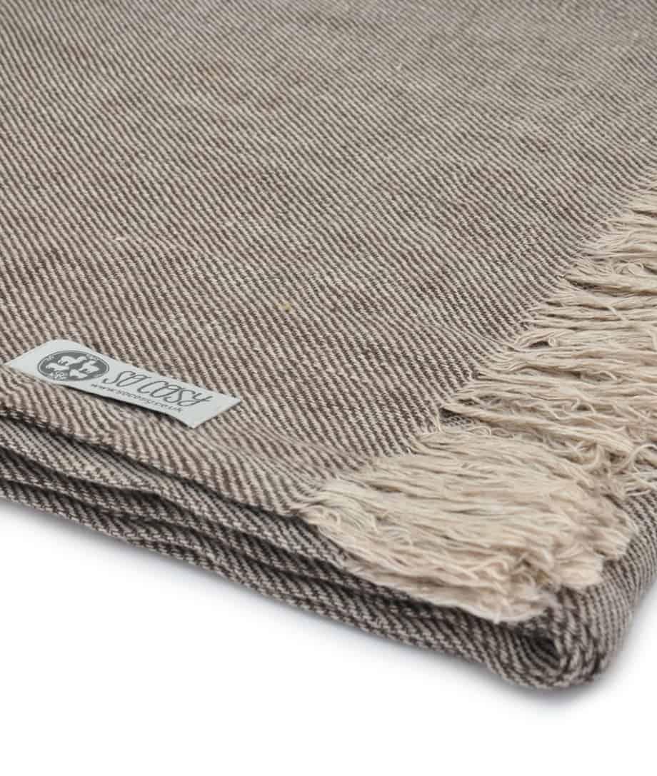 natural linen scarf