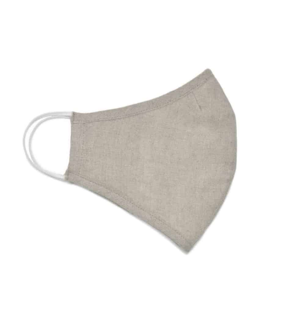 natural linen face covering mask