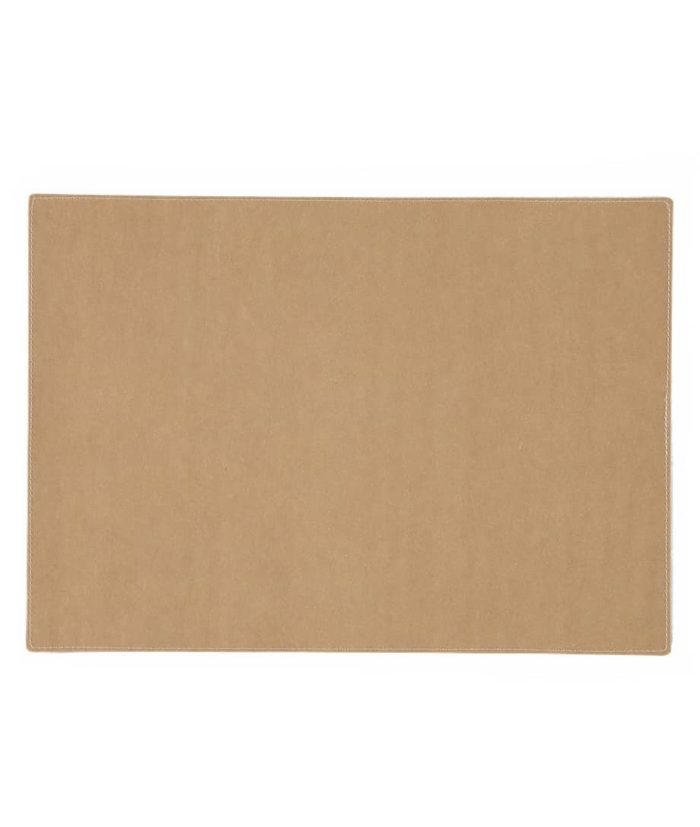 rectangular placemat in camel colour