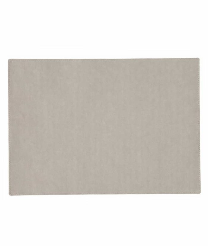 washable paper rectangular placemat in grey
