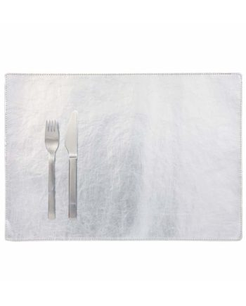 rectangular placemat in silver colour