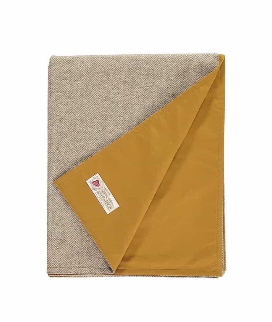 durable picnic mustard colour picnic blanket