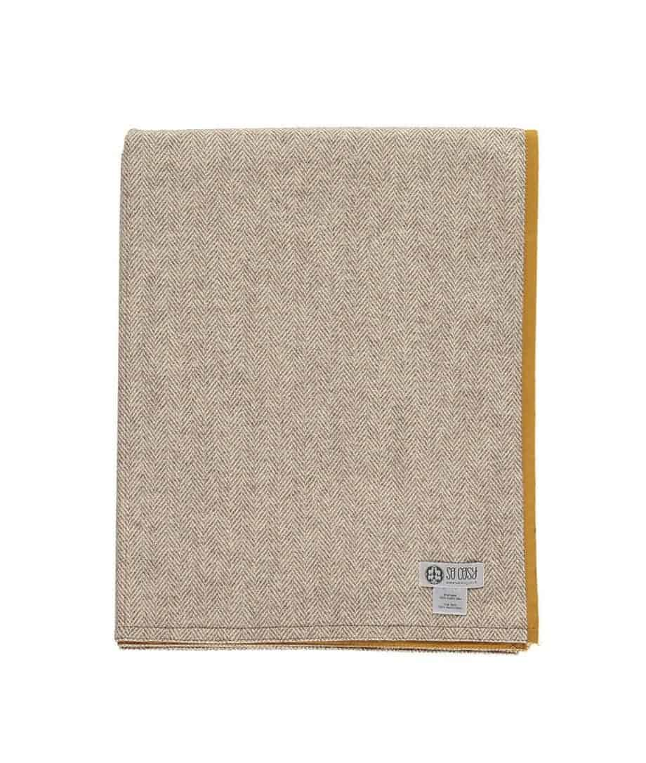 mustard colour roll up picnic blanket