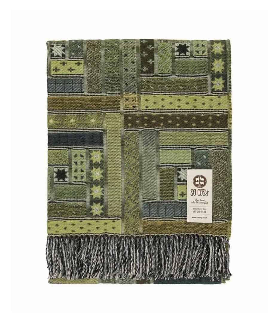 log cabin design elin merino wool sofa throw